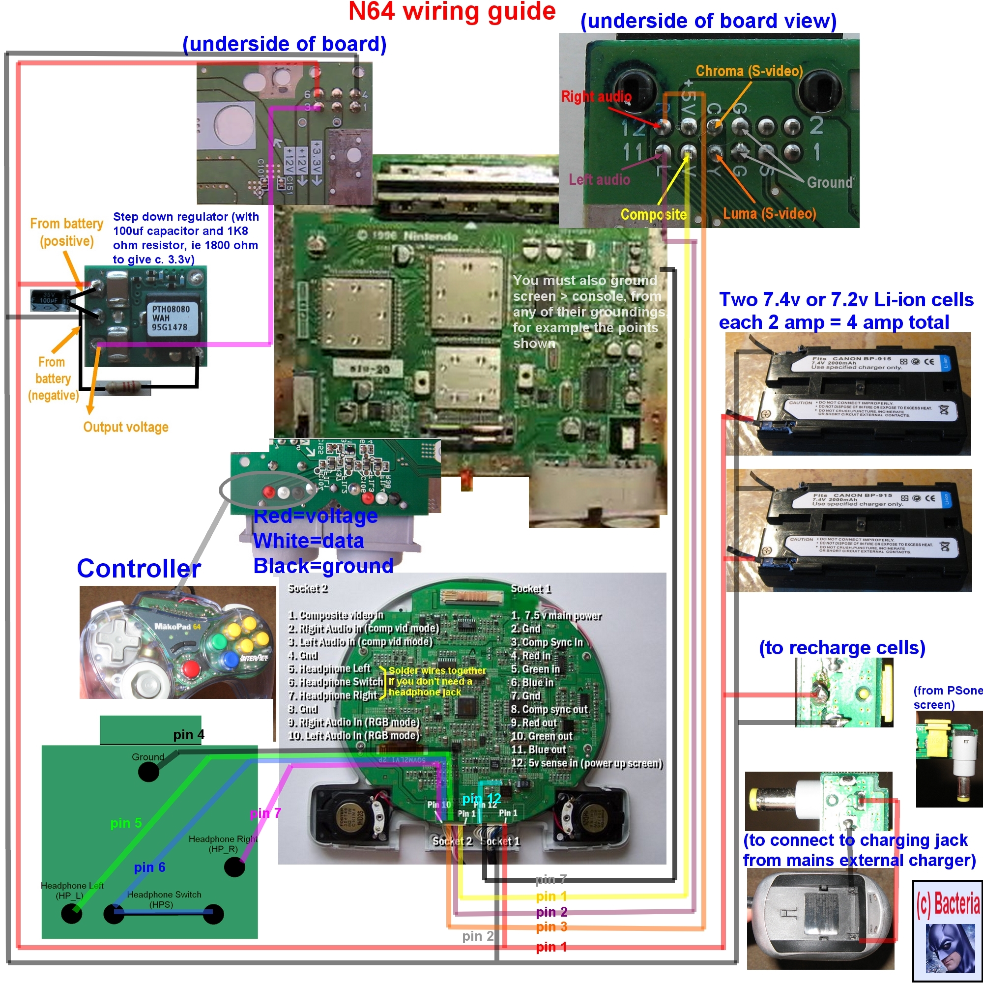 Xbox 360 Motherboard Power Pinout Wiring Schematic